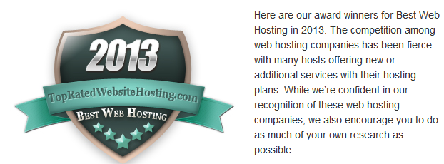 2013 Best Web Hosting Awards